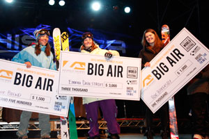 Rose Battersby on Big Air Podium at AFP World Championships