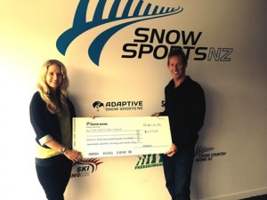 Snow Sports NZ Receives Donation for Adaptive Snow Sports Programme