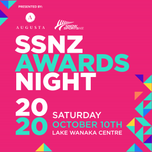 Save the Date! Snow Sports NZ Annual Awards Saturday 10 October